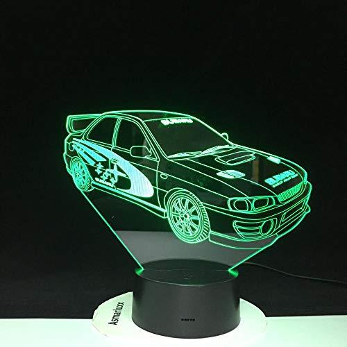 Preisvergleich Produktbild ZSSYD 16 Farben 3D Nachtlicht Baby Mehrfarbenfernbedienung Für Das Laufen Der Lichter,  Optisches Geführtes Hologramm Des Nachtlichtes Der Lava Für Geburtstagsgeschenkbatterie Touch Usb Lade Tisch Sch