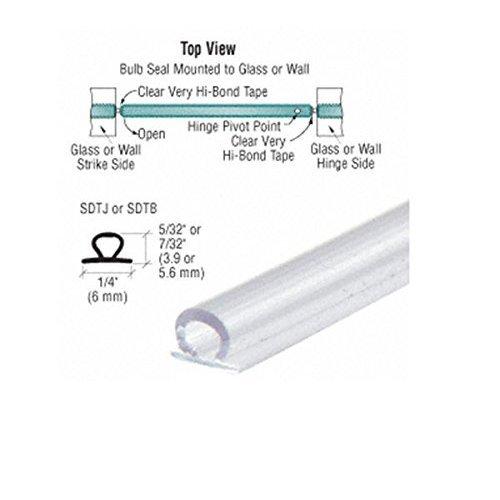 CRL Translucent Vinyl Bulb Seal 5/32' Gap - 95 in long