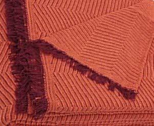 Regalitostv Colcha Multiusos Foulard Plaid Color Liso Jaspeado FÁBRICADO ESPAÑA (220_x_250_cm (SOFÁ 3 PLAZAS O Cama 135), Teja)