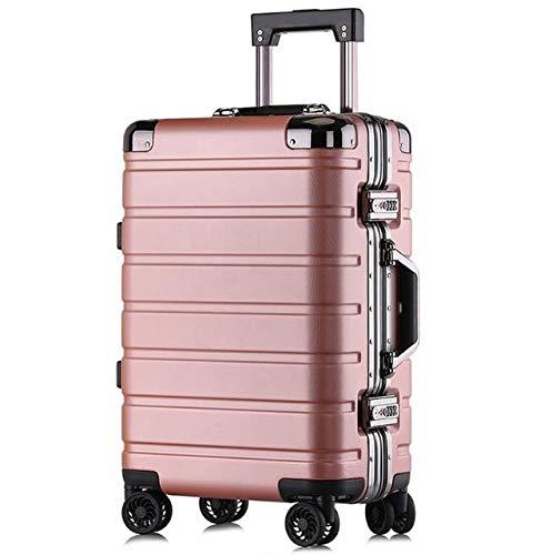 """AHJSN 20\""""24\"""" Zoll PC Reise Koffer Harte Trolley tragen auf roll gepäck Box auf räder 20\"""" Gold pink"""
