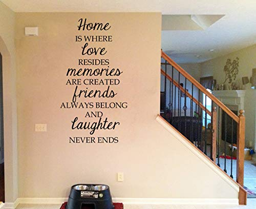 Sticker mural en vinyle Home is Where Love Resides Memories are Created Friends Always Belong Ans Laughter Never Ends