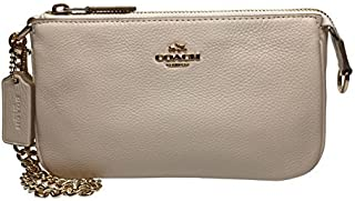Coach Pebbled Leather Large Wristlet Handbag