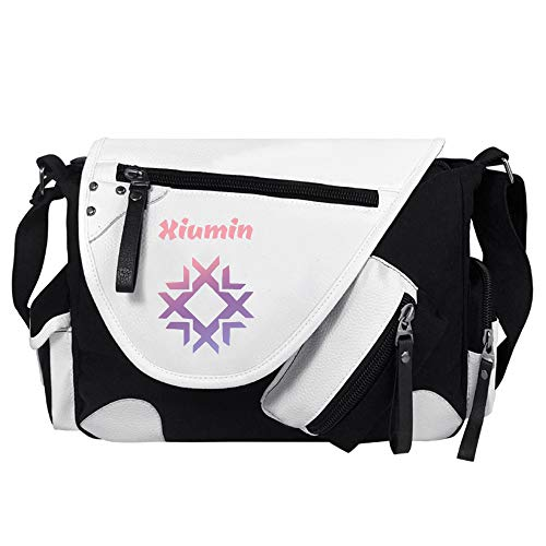 EXO Rucksäcke Freizeit Crossbody Beutel Exquisite Color Printing Schultertasche Leichtgewicht Messenger Bags Unisex (Color : White18, Size : 34 X 26 X 10cm)
