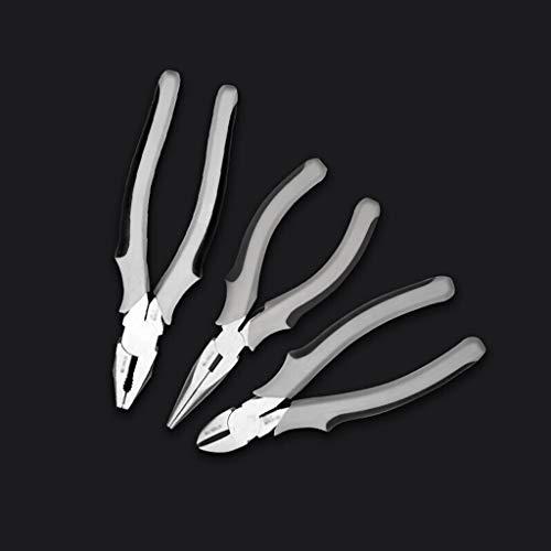 Alicates universales 3 piezas de alicates Conjunto, junta deslizante larga de corte diagonal nariz, alicates profesionales de set con Alicates, cortadores laterales 159 mm y con puntas de aguja Alicat