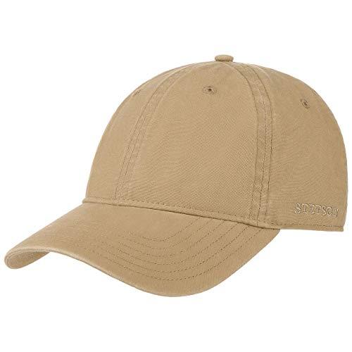 Stetson Ducor Sun Guard Fullcap Herren - Baseballcap aus Bio-Baumwolle (nachhaltig) - Frühjahr/Sommer - Cap mit Sonnenschutz UV 40+ - Basecap Stonewashed-Look - Outdoorcap Dunkelbeige S (54-55 cm)
