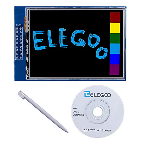 Elegoo EL-SM-004 UNO R3 2.8 Inches TFT Touch Screen with SD Card Socket w/All Technical Data in CD for Arduino UNO R3