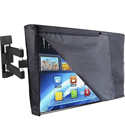 FEIYUGN Negro Cubierta Exterior TV, Material de Sellado Inferior a la Intemperie y al Polvo, a Distancia Controlador de Almacenamiento Pocke Y Borrar Front FEIYU (Color : 30'', Size : 32')