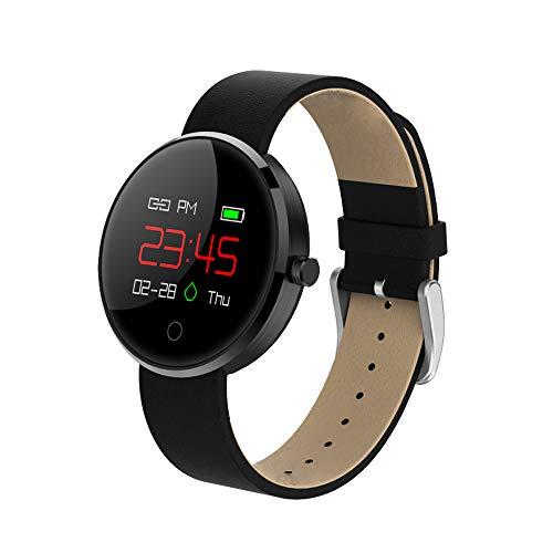 Jian E Smart Sportarmband voor mannen en vrouwen, waterdicht leer, horloge, hartslagfrequentie, bloeddruk, slaapbewaking, bluetooth, hardlopen, pedometer,, A