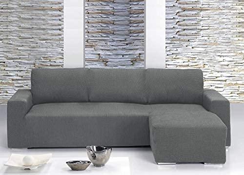 Il Dolce Stile della tua Casa - Funda de sofá universal con chaise longue para sofás con chaise longue a la derecha o izquierda (burdeos, chaise longue a la izquierda).