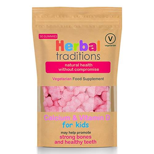 Kids Childrens Calcium & Vitamin D Gummies by Herbal Traditions - Vegetarian