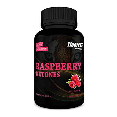 100% Pure Raspberry Ketones - Extra Strength, Gluten-Free & Vegan, Triple Potency & Purity, No Artificial Ingredients or Fillers, Vegetarian Capsules, (1 Month Supply)