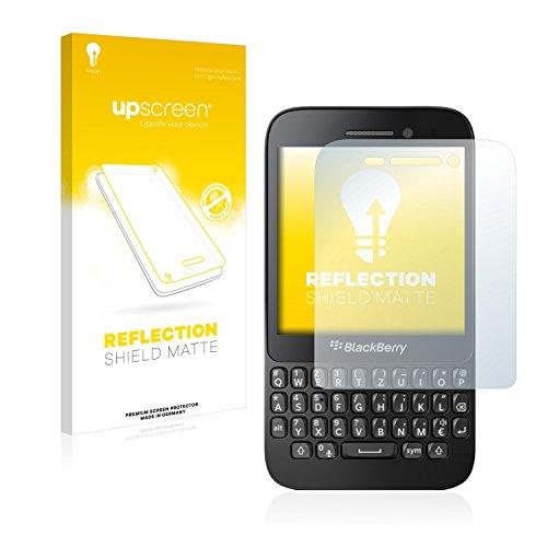 upscreen Entspiegelungs-Schutzfolie kompatibel mit BlackBerry Q5 – Anti-Reflex Bildschirmschutz-Folie Matt