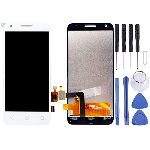 MDLIX GJT AYSMG LCD-Bildschirm und Digitizer Vollversammlung for Alcatel One Touch Pixi 3 4.5/5019 (schwarz) (Color : White)