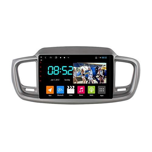 Foof Autoradio 2 DIN, Android Bluetooth Radio De Coche 9'' Pantalla Táctil WiFi Plug and Play Completo RCA Soporte Carautoplay/GPS/Dab+/OBDII para Kia Sorento 3 2014-2017,Octa Core,4G WiFi 6G+128G