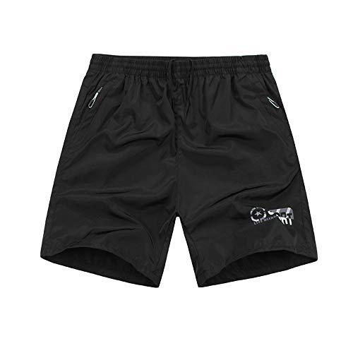 YLBH Pantalones De Cinco Puntos De Talla Grande Pantalones De Playa Transpirables para Hombres, Sueltos Y De Secado RáPido para Hombres Corto PantalóN De CháNdal Grey 6XL