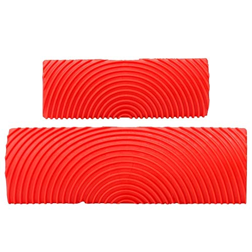 Tarente 2Pcs / Set Gummizylinder Holzmaserung Effekt Pinsel Malwerkzeuge DIY Wanddekoration