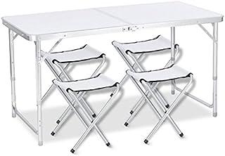 DesertFox アウトドア 折りたたみ テーブル 120×60×(55-62-70)cm 3WAY 自由に高さ調整可能 ピクニック レジャー キャンプ 用