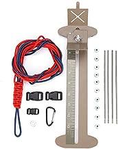 Fsskgx Paracord Bracelet Kit and Jig Set, Adjustable Metal Bracelet Weaving DIY Craft Maker Tool, Monkey Fist Jig with Hanks Free Buckles