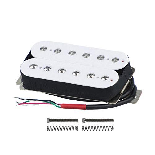 FLEOR Double Coil Humbucker Alnico 5 Magnet Gitarrenhals 50mm Humbucker Pickup für Ersatz von E-Gitarrenteilen, weiß