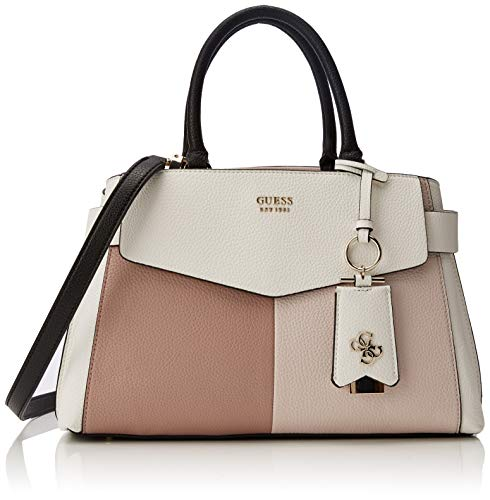 Guess - Colette Girlfriend Satchel, Mujer, Negro (Stone Multi), 36x24x16 cm (W...