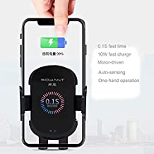 Wireless Car Charger Mount,Car Charger & Holder w/Automatic Clamping | 10W Fast Car Wireless Charger for iPhone 8/8Plus X/XS/XR/XS MAX Samsung Galaxy S6/7/8/9/Note 8/9 & Qi Enabled Devices