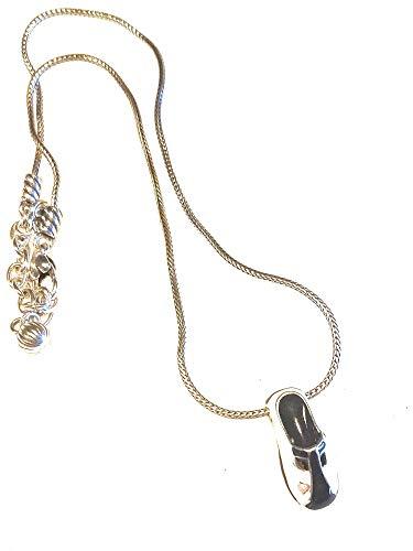 Brighton Erin Black White Shoe Necklace