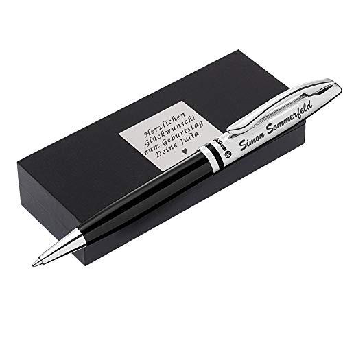 Kugelschreiber mit Gravur als Geschenk Wunschsymbol Inklusive Geschenk-Karton Kugelschreiber Jazz Classic K35 Schwarz FS PS12 - mit AMAZON KONFIGURATOR direkt online gestalten !