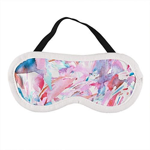 Boho Kaleidoscoop Roze Textuur Aquarel Boheemse Marokkaanse Slaap Oog Masker Slapende Maskers Blinddoek Katoen Oog Kussen Zacht voor Vrouwen Mannen Reizen Naps Gepersonaliseerd