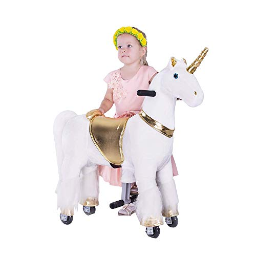 Gidygo Ride On Pony Walking Horse Plush Toy for Children Action Pony Horse Ride on Pony Horse for Age 3 to 6 Years or Up to 65 Pounds