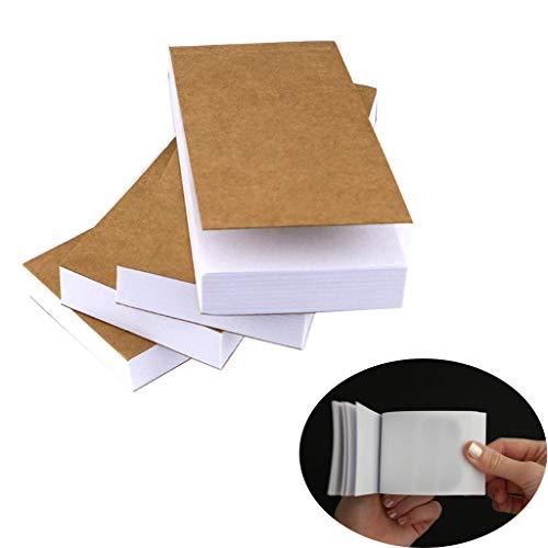 99native Notizklotz Blanko,10 Stück Leeres Flipbook-Papier mit Löchern Flipbook-Animationspapier Seiten für Skizzieren von Animationen und Erstellen von Cartoons, 4,5 x 2,5 cm (Braun)