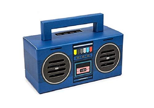 Kooltech Altavoz Bluetooth, Diseño Radio Casette, Azul, Talla única (SPRC)