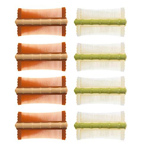 Lurrose 8 Peines de Pulgas de Doble Cara Peine de Limpieza Peine de Peluquería de Dientes Finos Peine para Mujeres
