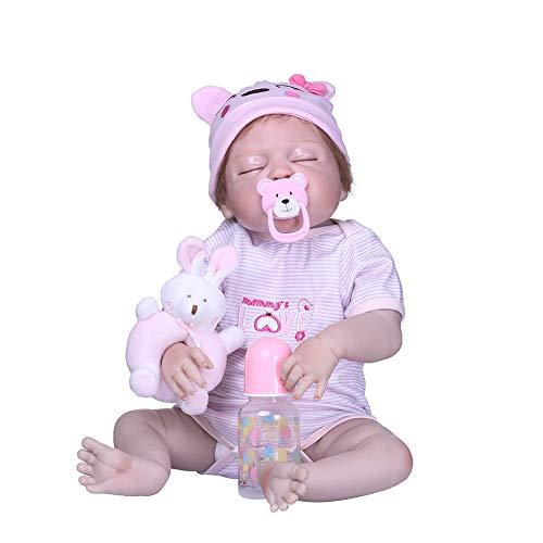 CAheadY 20 Zoll Vinyl Silikon Simulation Baby Reborn Puppe Begleiten Spielzeug Kinder Geschenk