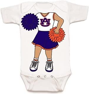 Future Tailgater Auburn Tigers Heads Up! Cheerleader Baby Onesie