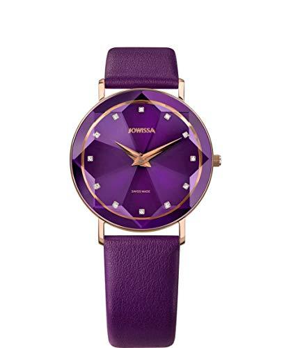 Jowissa Facet Schweizer Damenuhr J5.607.L Violett/Rosa