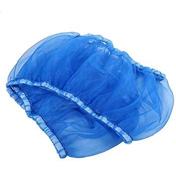 UEETEK Housse pour Cage Oiseaux Maille Cage Couverture pour Perroquet Canari Taille S (Bleu)