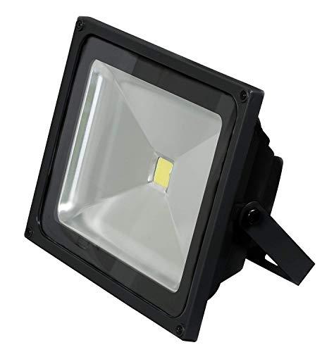 800 lm Ledscom.de DEL Mur-Projecteur WEGA pour extérieur 10 W noir blanc chaud