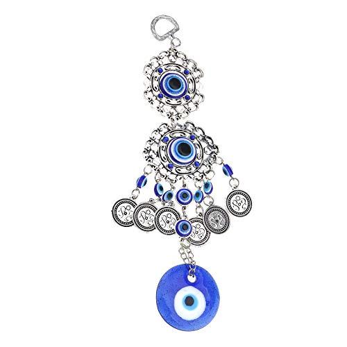 1 amuleto colgante de Turquía Evil Eye para decoración de pared, protección azul