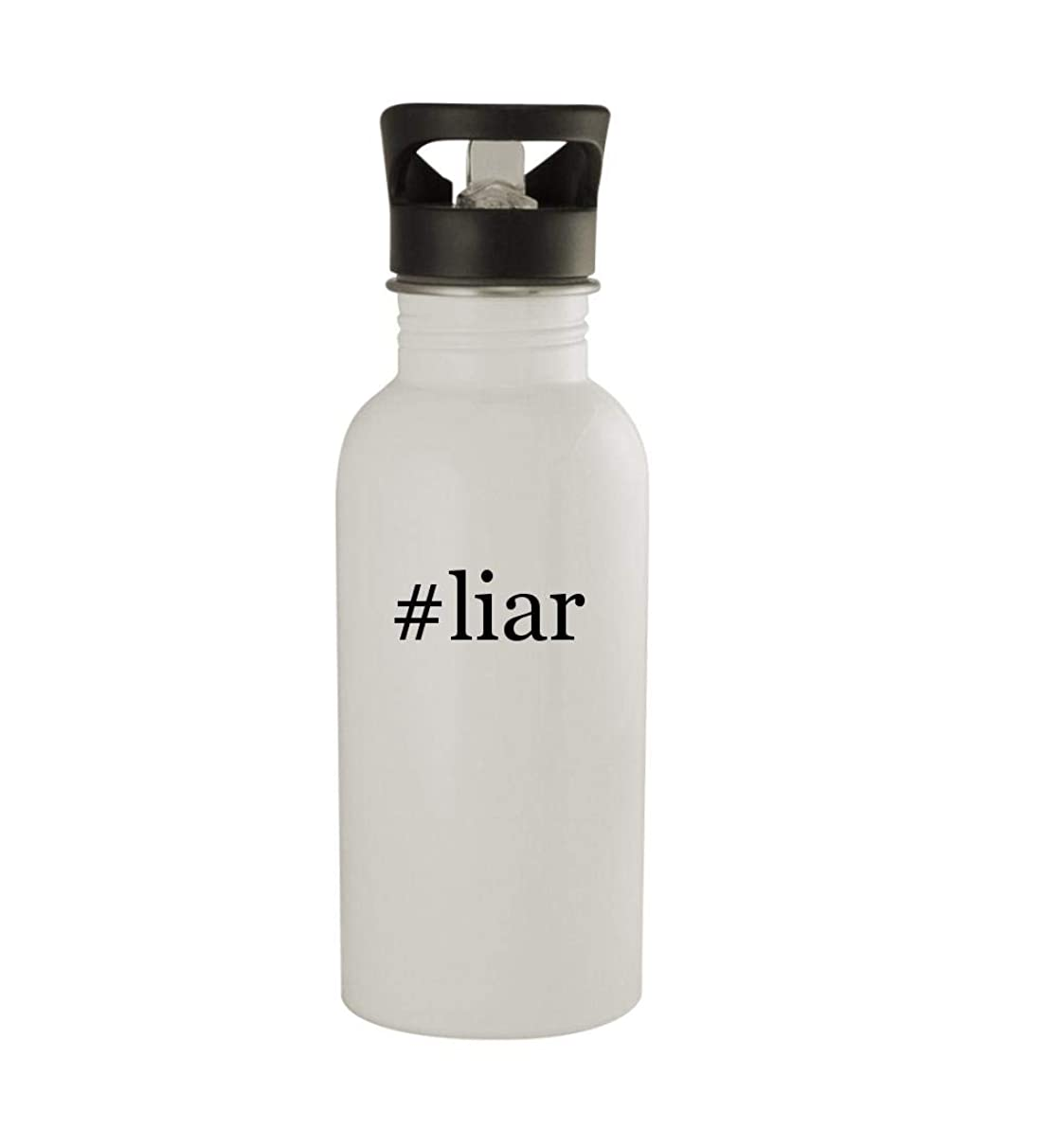 Knick Knack Gifts #liar - 20oz Sturdy Hashtag Stainless Steel Water Bottle