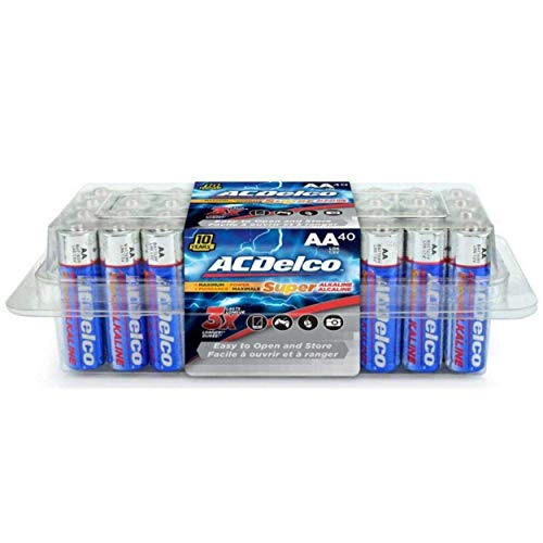 ACDelco AA Super Alkaline Batteries In Recloseable Package 40 Count