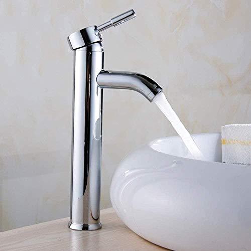 Lavabo de cocina Grifo de lavabo de un solo orificio Grifo de pie alto Lavabo de pie alto Lavabo Mezclador de agua fría y caliente Grifo de baño Baño