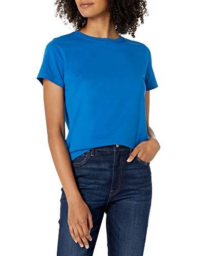 Amazon-Marke: Courtney kleines Jersey-T-Shirt mit Rundhalsausschnitt und kurzen Ärmeln von The Drop