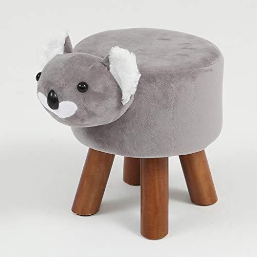PLL Koala Shape Kinderbarkruk Massief Hout Thuis Dierstoel Volwassene Lage Barkruk Woonkamer Sofa Bench Change Schoenbank