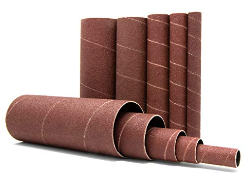WEN 6535SP80 80-Grit Oscillating Spindle Sandpaper Sanding Sleeves with 5-5/8-Inch Height, 10 Pack