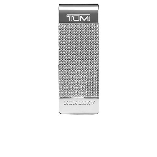 TUMI - Nassau Ballistic Etched Money Clip Wallet with RFID ID Lock for Men - Silver