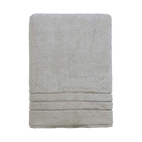 Cariloha 600 GSM Bamboo & Turkish Cotton Bath Towel - Odor Resistant, Highly Absorbent - Includes 1 Towel - 1-Year Limited Quality Warranty - Harbor Gray