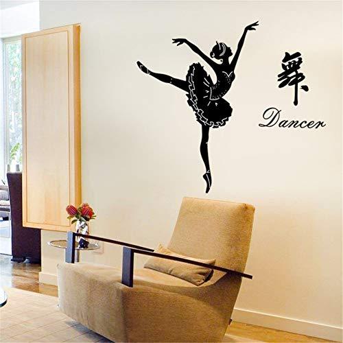 Ballett Silhouette Scheren Scheren Schneiden Klassenzimmer Seiguan Korridor Trainingskurs Wanddekoration Wandaufkleber