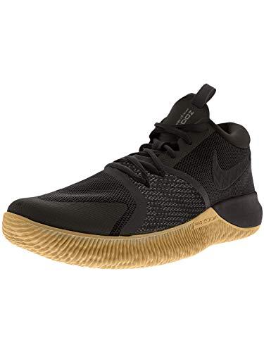 Nike Men's Zoom Assersion Basketball Shoe Black/Gum Light Brown Size 10.5 M US