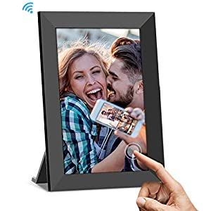 UCMDA Digital Photo Frame Wifi, 8 Inch Smart Cloud Digital Picture Frame with HD 1280x800 IPS Touch Screen, 16GB Storage, Auto-Rotate, Send Photos or Video Remotely Via App from Anywhere