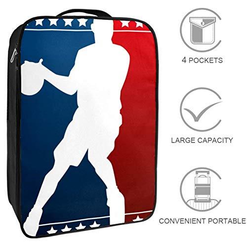 Bennigiry - Bolsa para zapatos de baloncesto con silueta de viaje, bolsa de almacenamiento portátil para zapatos de golf y fin de semana